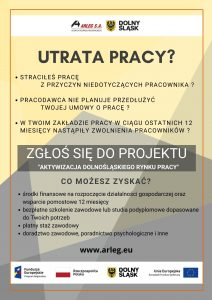 """plakat projektu """"Aktywizacja dolnośląskiego rynku pracy"""""""